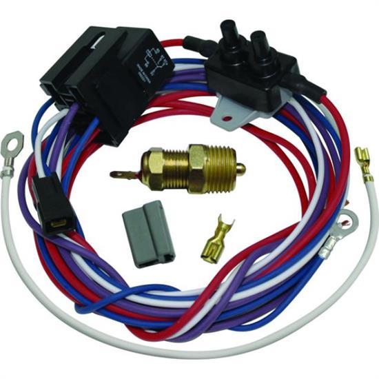HD Heavy Duty Radiator Engine Fan Thermostat Temperature Switch Relay Kit fan