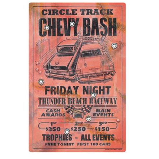 Circle Track Chevy Bash Metal Signs