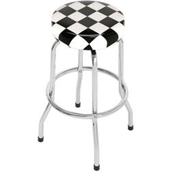 Checkered Flag Bar Stool