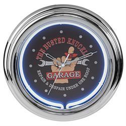 Busted Knuckle Garage BKG-76600 Neon Clock