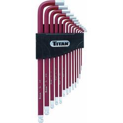 Titan Tools 12714 Long Detent Ball-End Allen Wrench Hex Key Set, Metric
