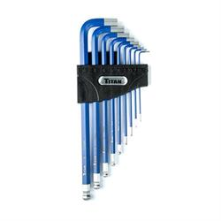 Titan Tools 12714 Long Detent Ball-End Allen Wrench Hex Key Set, Metric
