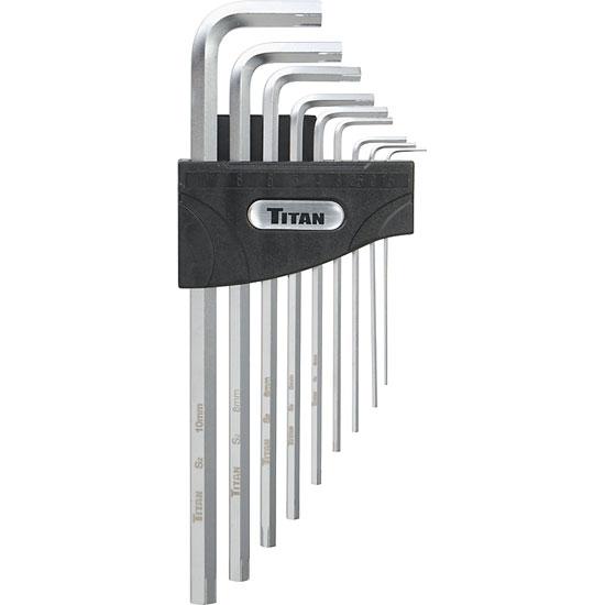 titan tools 12757 9 piece allen wrench hex key extractor set metric. Black Bedroom Furniture Sets. Home Design Ideas