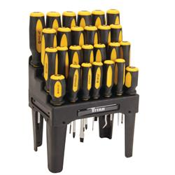 Titan Tools 17203 Premium Quality Screw Driver Set - 26 Piece