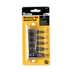 Titan Tools 68965 Mortorq Socket Bit Set, 3/8 Inch Drive, 5 Piece