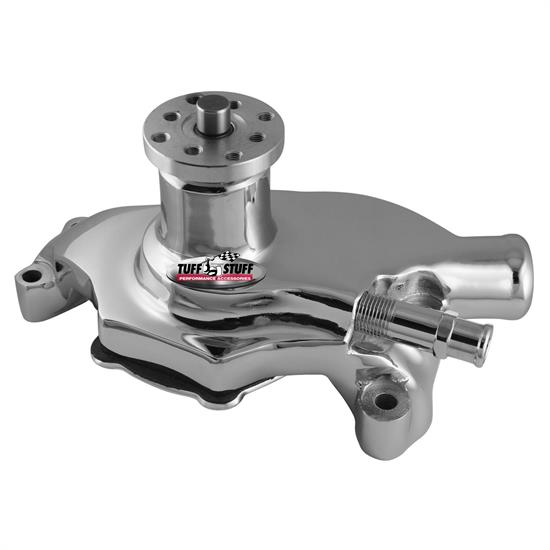 Tuff Stuff 1354NAREV GM SBC Water Pump, Chrome