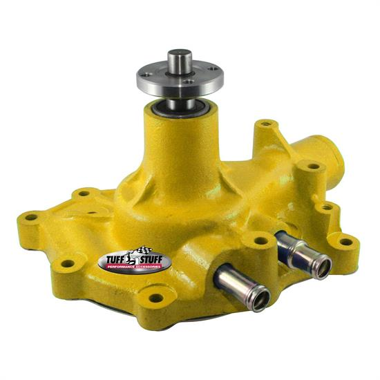 Tuff Stuff 1432CYELLOW Ford Aluminum Water Pump Pass. Inlet, Yel