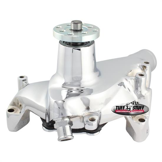Tuff Stuff 1449NBREV SBC Supercool Long Aluminum Water Pump, Chr