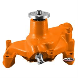 Tuff Stuff 1449NCORANGE SBC Long Aluminum Water Pump, Orange