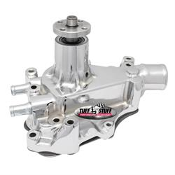 Tuff Stuff 1468A Ford Water Pump, Drivers Side Inlet, Chrome