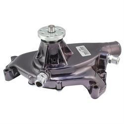Tuff Stuff 1496NA7 BBC Chevy Short Aluminum Water, Black Chrome