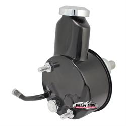 Tuff Stuff 6166B GM Power Steering Pump, Press Fit Shaft, Black