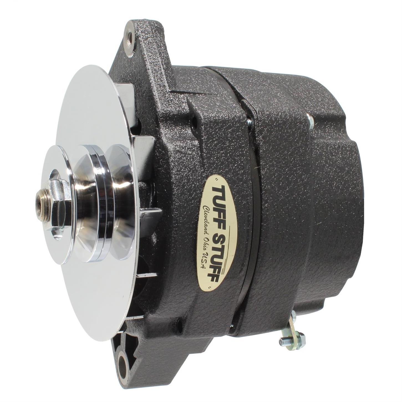 Tuff Stuff Alternator 7102NC; External Regulator OE-Wire Chrome 100 Amp