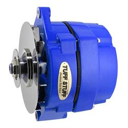 Tuff Stuff 7127NFBLUE GM Alternator, 100 Amp, Blue W/Chrome