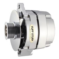 Tuff Stuff 7127NK6G12 GM Alternator, 140 Amp, 1-Wire, Chrome