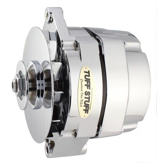 Tuff Stuff 7127NK9 GM Alternator, 140 Amp, 1-Wire, Chrome