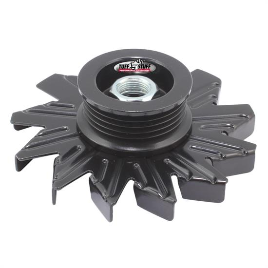Tuff Stuff 7600CB Stealth Black Alternator Fan And Pulley Combo