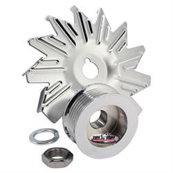 Tuff Stuff 7600D Chrome Alternator Fan And Pulley Combo
