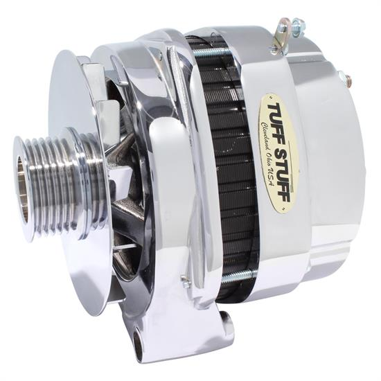 Tuff Stuff 8219NEP GM Truck Alternator, 250 Amp, 1-Wire, Polished