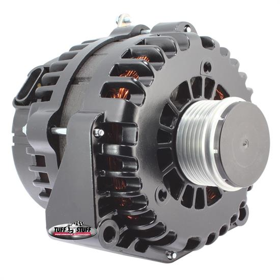 Tuff Stuff 8299F GM 6 Groove Alternator, 230 Amp, Stealth Black