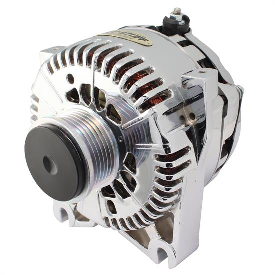 tuff stuff 8436ap ford alternator, 135 amp, oem wire, polished  speedway motors