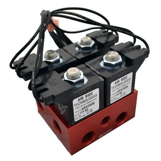 ridetech 31932501 air valve block ridepro 2 way w 1 4\