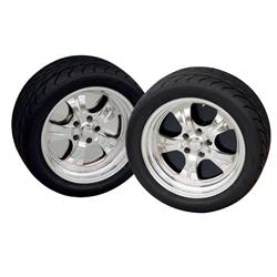 "RideTech 83122001 5-Lug 22"" SS Wheelplates Set"