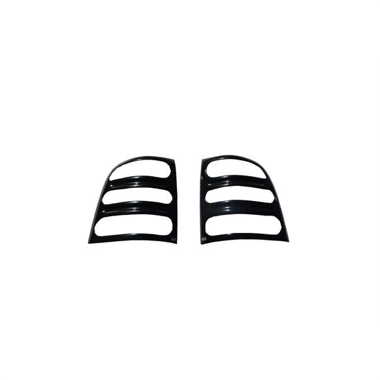 AVS 36025 Slots Taillight Covers Black, 1984-96 Jeep Cherokee
