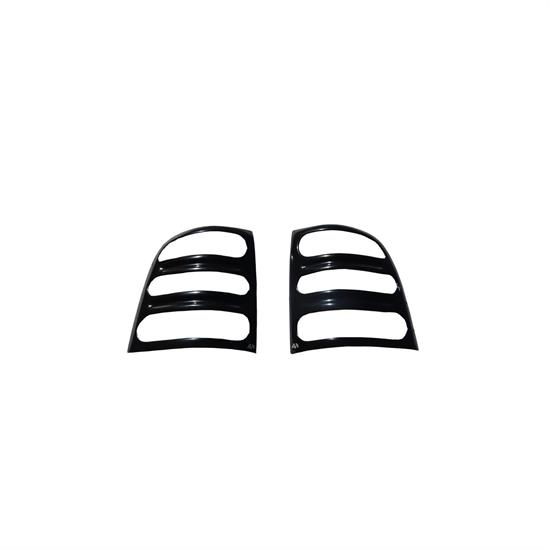 AVS 36731 Tail Shades Slotted Tail Light Covers Black,Honda/Isuzu