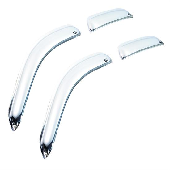 AVS 684515 Chrome Ventvisor Side Window Deflector 4pc, Chevy/GMC