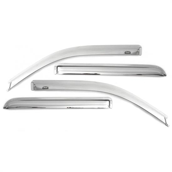 AVS 684975 Chrome Ventvisor Side Window Deflector 4pc, Ford