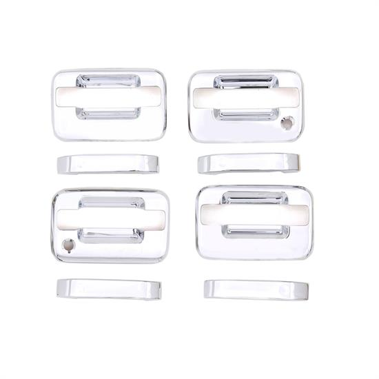 AVS 685102 Chrome Door Handle Cover 4pc w/RH Keyhole, 04-14 F-150