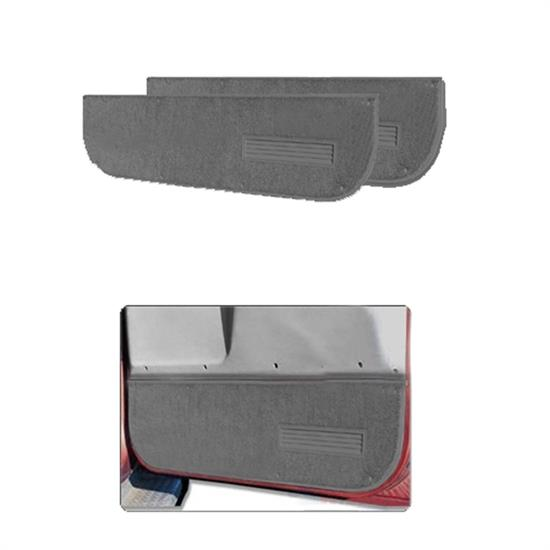 LUND 123001 Pro-Line Lower Door Panel Carpet Black Front, Dodge