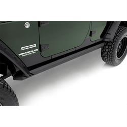 LUND 26410026 Rock Rail Nerf Bar Black, 2007-17 Jeep Wrangler