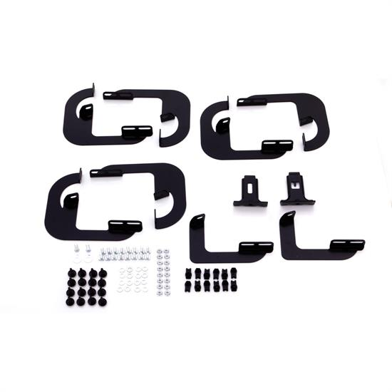 LUND 318039 Tube Step Bracket Mount Kit Black, Chevy/GMC