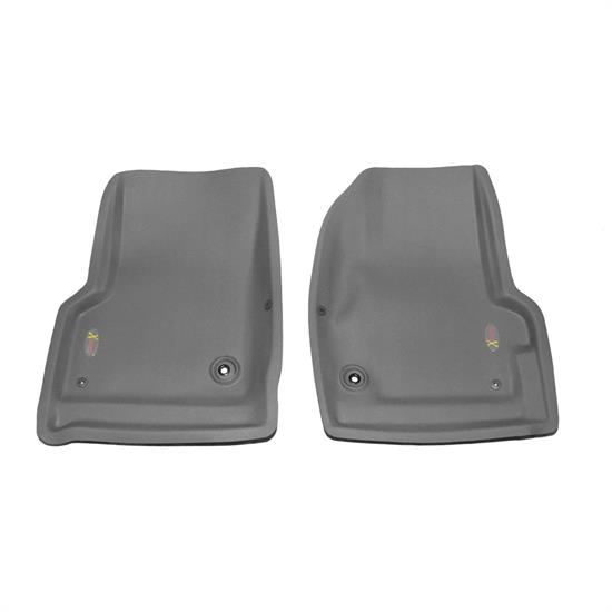 LUND 404202 Catch-All Xtreme Floor Mat 2 pc Front Gray, Wrangler