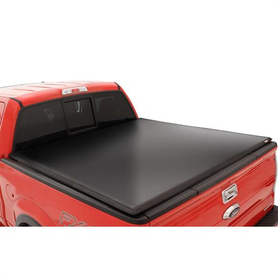 LUND 95081 Genesis Tri-Fold Tonneau Black Leather Look, Titan