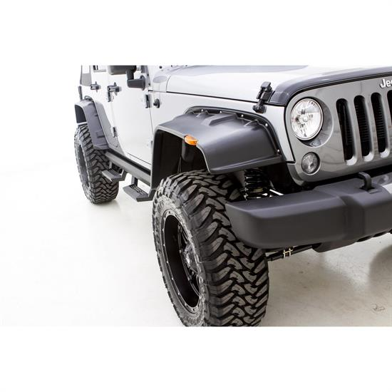 LUND FX606T Flat Style Fender Flare Set F/R, Wrangler