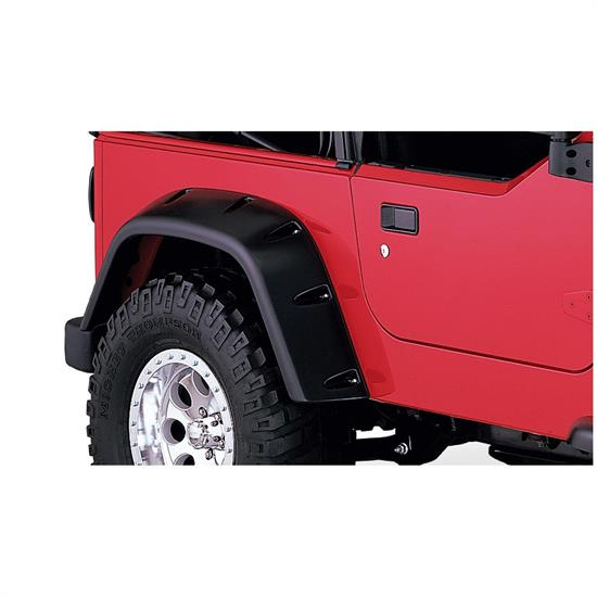 Bushwacker 10030-07 Pocket Style Fender Flares Rear Pair 97-06 Tj