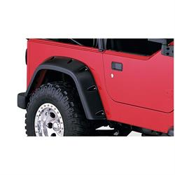 Bushwacker 10042-07 Pocket Style Fender Flares Rear Pair 97-06 Tj