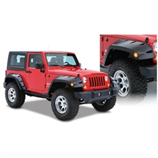 Bushwacker 10045-02 Max Coverage Pocket Fender Flares Wrangler