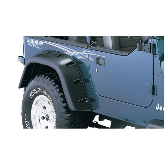 Bushwacker 10058-07 Pocket Fender Flares Rear Models Wrangler