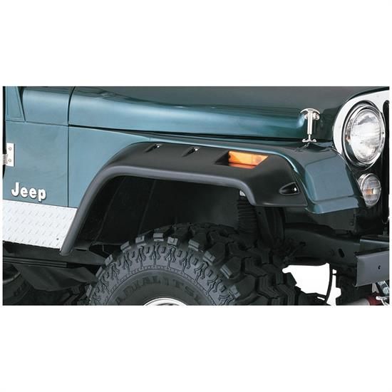 Bushwacker 10059-07 Cut-Out Fender Flares Front Pair, Jeep