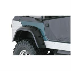 Bushwacker 10060-07 Cut-Out Fender Flares Rear Pair, Jeep