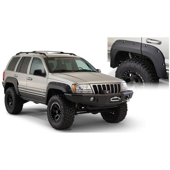 Bushwacker 10072-07 Cut-Out Fender Flares Rear Grand Cherokee