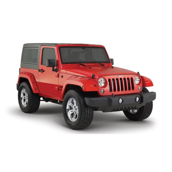 Bushwacker 10078-02 Pocket Style Fender Flares Rear Wrangler
