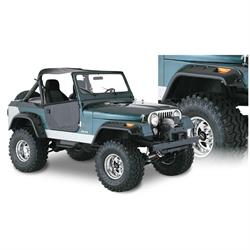 Bushwacker 10910-07 Cut-Out Fender Flares F/R Set/4, Jeep