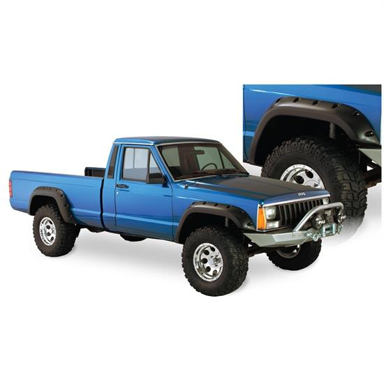 Bushwacker 10912-07 Cut-Out Fender Flares F/R 4pc, 84-01 Cherokee