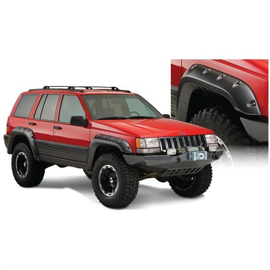 Bushwacker 10916-07 Cut-Out Fender Flares F/R 4pc, Grand Cherokee