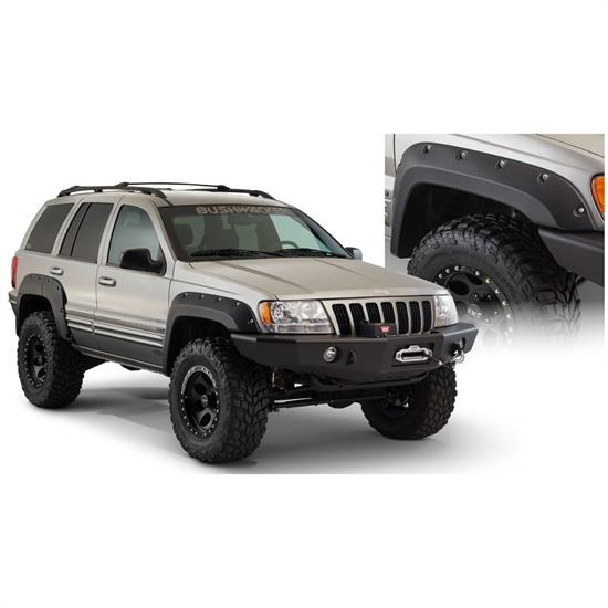 Bushwacker 10926-07 Cut-Out Fender Flares F/R 4pc, Grand Cherokee